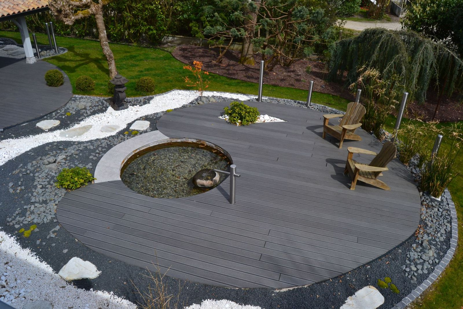 Conception et am nagement d 39 un jardin zen par un for Agencement terrasse jardin