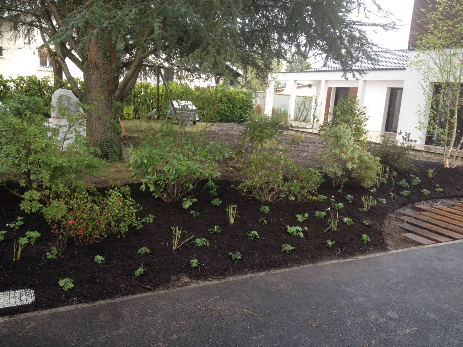 Paysagiste pour plantation d 39 arbres et d 39 arbustes au for Jardin et plantation