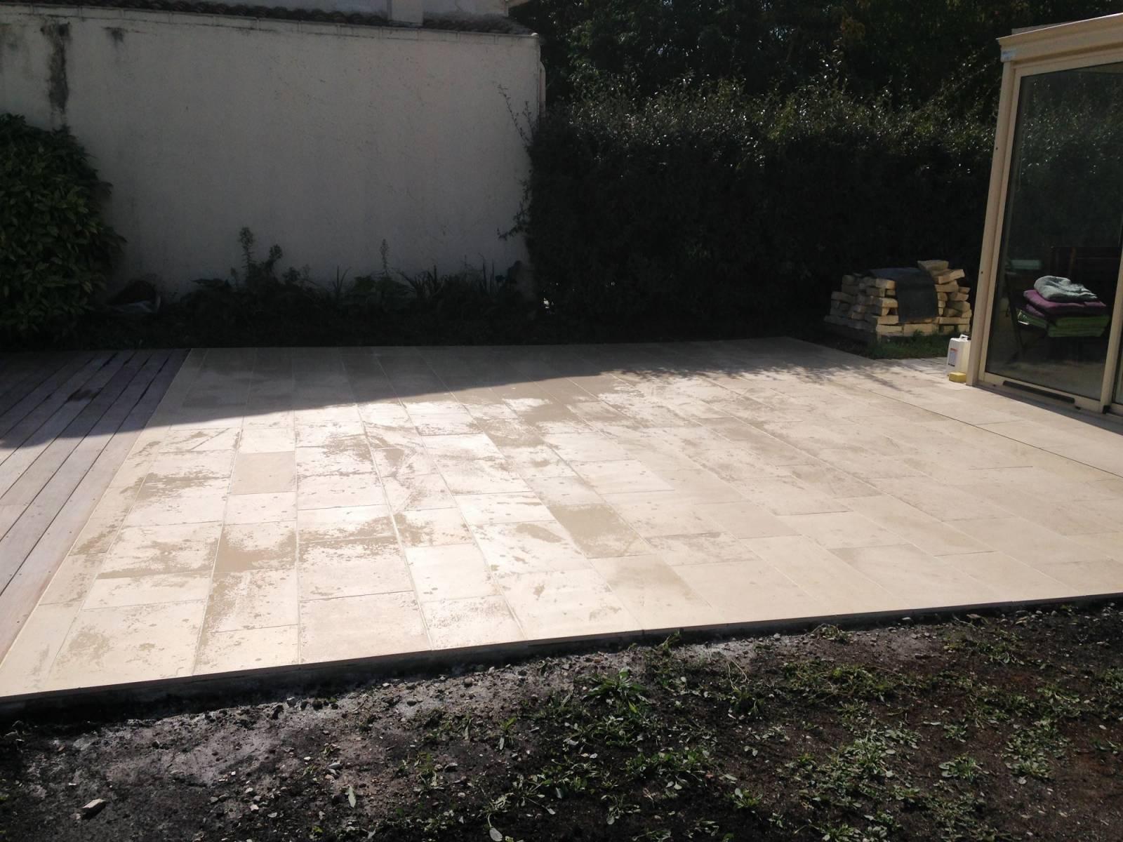paysagiste pour r alisation de terrasses ma onn es sainte h l ne am nagement de jardin par. Black Bedroom Furniture Sets. Home Design Ideas