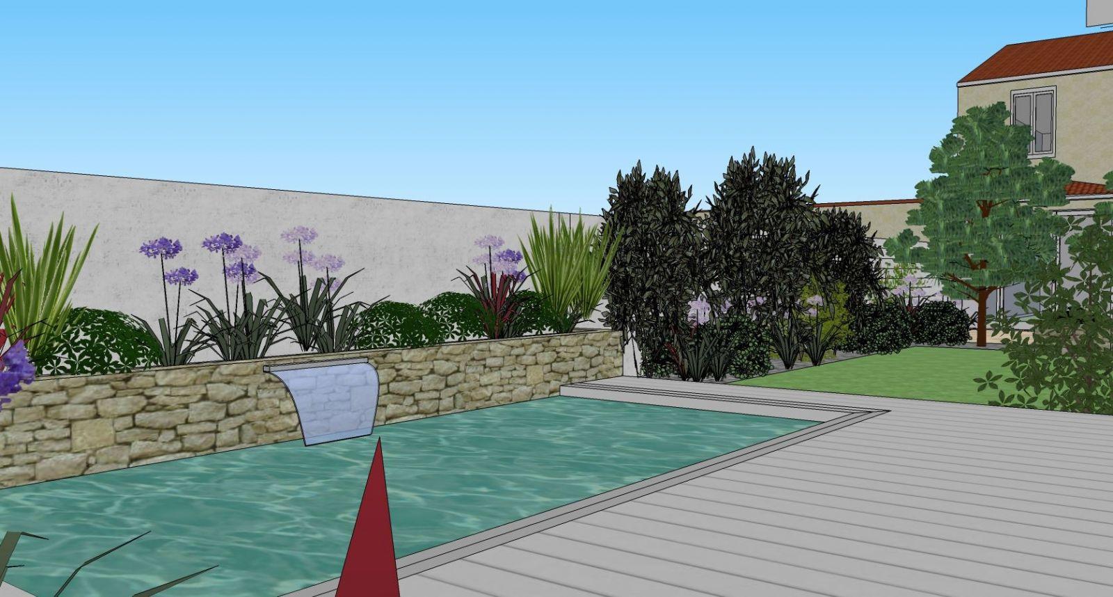 Paysagiste pour réalisation d\'élévation de jardin à Bordeaux ...